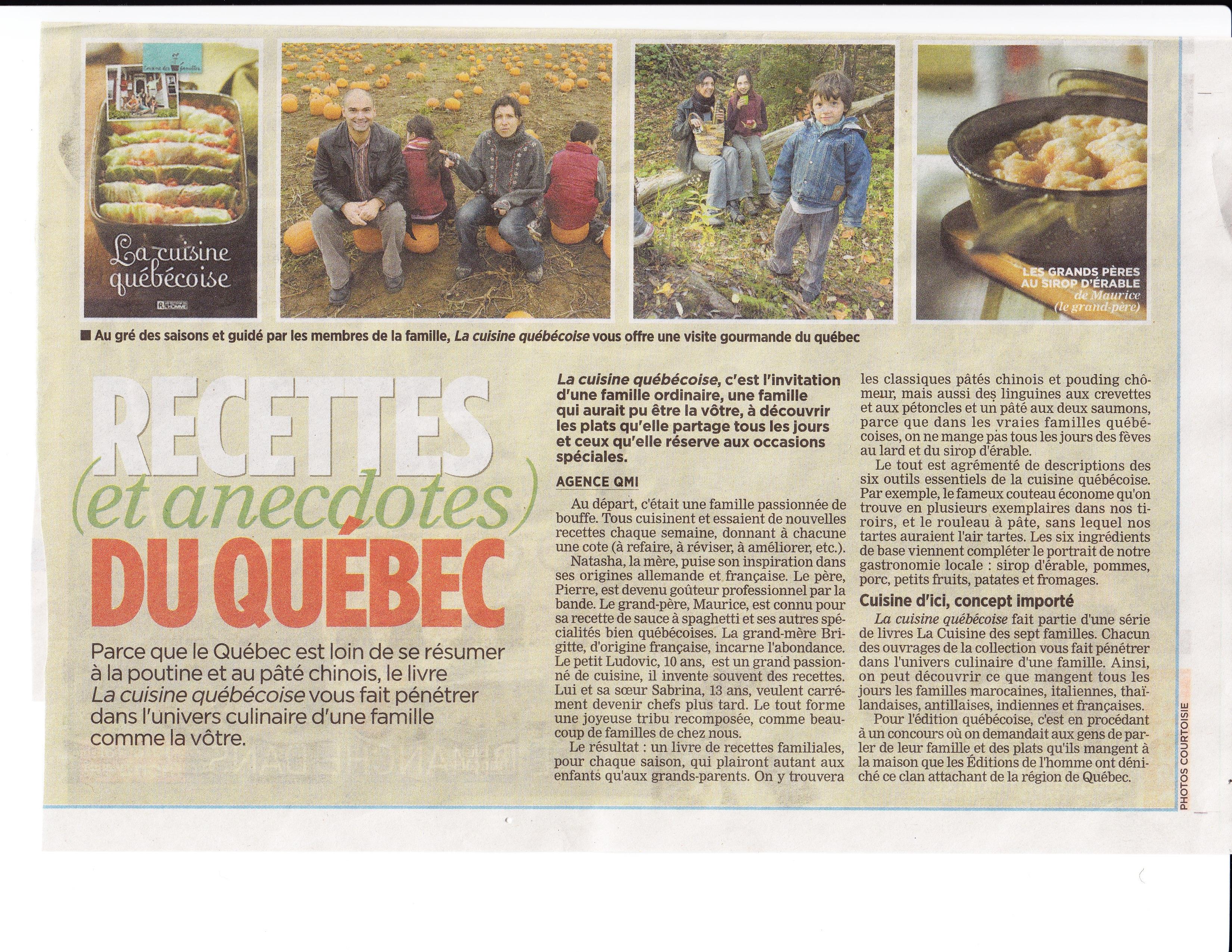 Livre la cuisine qu b coise les ditions de l 39 homme - Article de cuisine montreal ...
